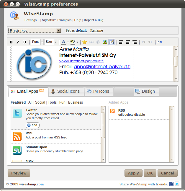 Create an Email-signatures with Social Media links | Internet ...